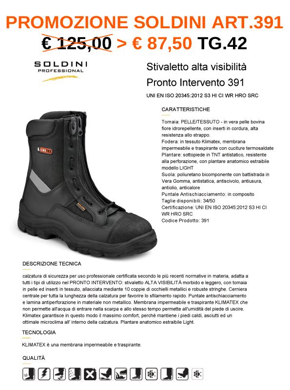 PROMO Stivale emergenze Soldini Art.391